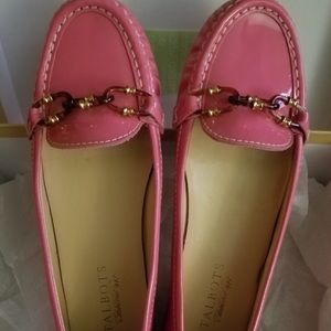 NWOB Talbots pink loafers. 8n
